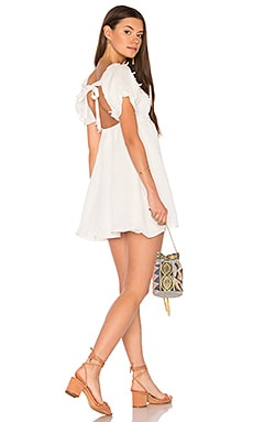Crema Babydoll Dress in White