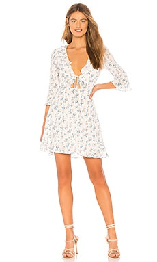 X REVOLVE Tie Front Mini Dress For Love & Lemons $77