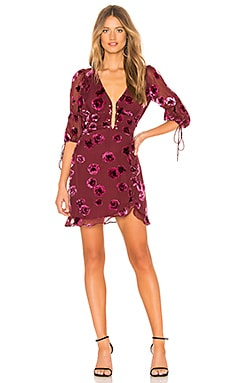 Sophie Velvet Floral Mini Dress For Love & Lemons $260