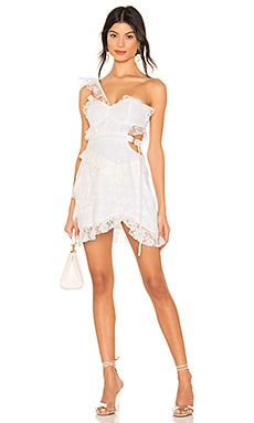 Lucien One Shoulder Dress For Love & Lemons $266 NEW ARRIVAL