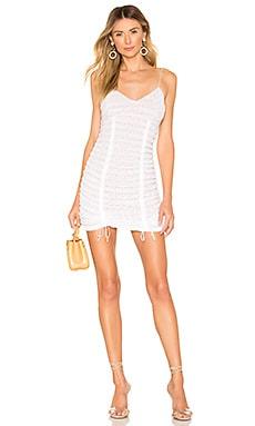 Fondant Shirred Mini Dress For Love & Lemons $129