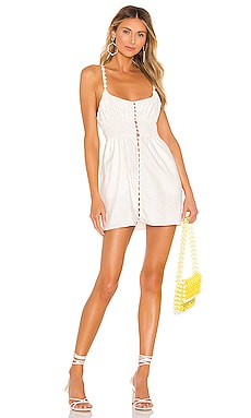 Macaroon Button Mini Dress For Love & Lemons $96