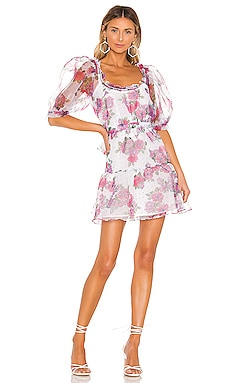 X REVOLVE Volume Sleeve Fit And Flare Dress For Love & Lemons $116