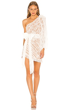 Dynasty One Shoulder Dress For Love & Lemons $275 NEW ARRIVAL