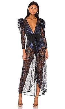 Rodin Iridescent Maxi Dress For Love & Lemons $304 NEW ARRIVAL