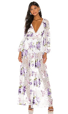 MAXIVESTIDO WILDFLOWER FOIL For Love & Lemons $232