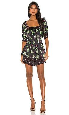 Wilson Print Mix Mini Dress For Love & Lemons $132