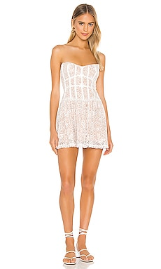 Jelena Strapless Dress For Love & Lemons $242 NEW