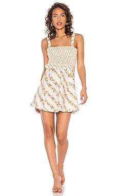 Georgia Smocked Mini Dress For Love & Lemons $194 BEST SELLER