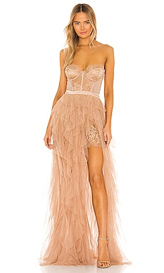 X REVOLVE Bustier Gown For Love & Lemons $348 NEW