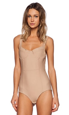 For Love & Lemons Show Off Bodysuit in Nude