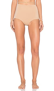 For Love & Lemons Sweetheart High Waisted Panty in Nude