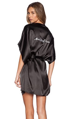 SKIVVIES by For Love & Lemons Maid of Honor Robe in Black