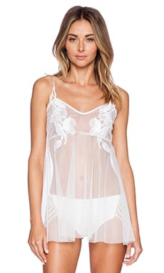 For Love & Lemons Tulle Slip Dress in White