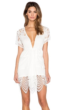 SKIVVIES by For Love & Lemons Casablanca Robe in White