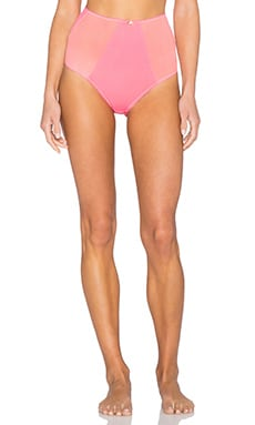 SKIVVIES by For Love & Lemons Lemondrop Hi Waist Panty in Hot Pink