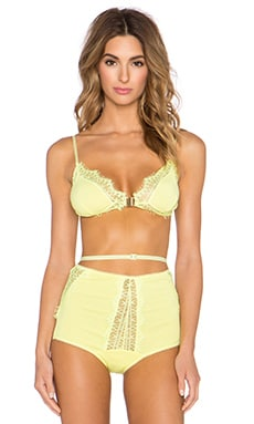 SKIVVIES by For Love & Lemons Hyacinth Bralette in Lemon Sherbert