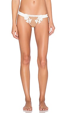 SKIVVIES by For Love & Lemons Sicily Panty in Ivory & Nude