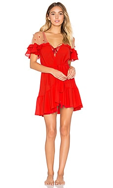 Little Rosette Robe in Red Spice
