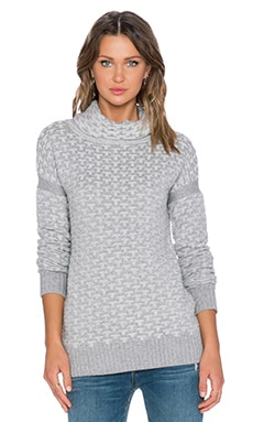 KNITZ by For Love & Lemons Big Sur Turtleneck Sweater in Grey