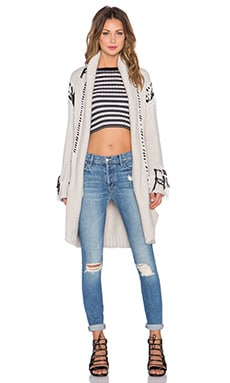 KNITZ by For Love & Lemons Denver Cardigan in Ivory