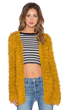 KNITZ by For Love & Lemons Joplin Cardigan in Goldenrod