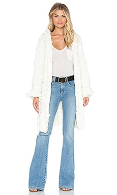 Braided Cable Hoodie Cardigan For Love & Lemons $102