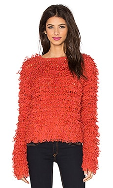 KNITZ by For Love & Lemons Joplin Sweater in Red