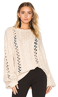 KNITZ Wythe Bell Sleeve Sweater en Naturel