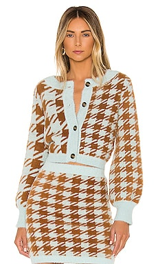 Cher Houndstooth Cardigan For Love & Lemons $172 NEW ARRIVAL