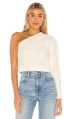 Quinn One Shoulder Sweater For Love & Lemons $141 NEW