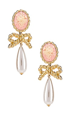Cameo Pearl Drop Earrings For Love & Lemons $106