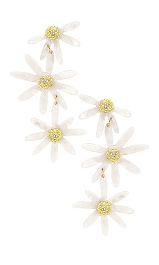 Lucite Daisy Earrings For Love & Lemons $57