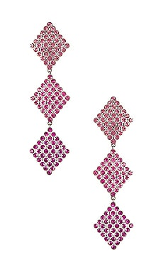 Casbah 3 Tier Stone Earrings For Love & Lemons $50