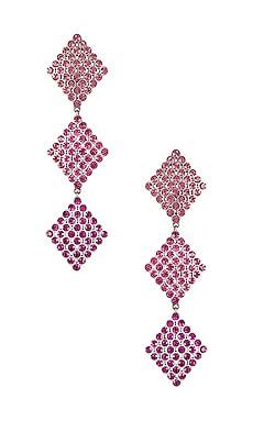 Casbah 3 Tier Stone Earrings For Love & Lemons $88