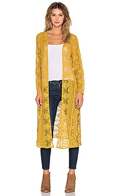 For Love & Lemons Sienna Kimono in Goldenrod