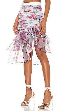 X REVOLVE Asymmetric Ruffle Skirt For Love & Lemons $146