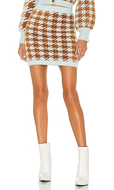 Cher Houndstooth Mini Skirt For Love & Lemons $132 NEW ARRIVAL