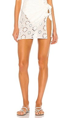 Cookies N Cream Tie Up Skirt For Love & Lemons $132