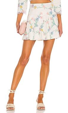 Majorie Mini Skirt For Love & Lemons $165 NEW