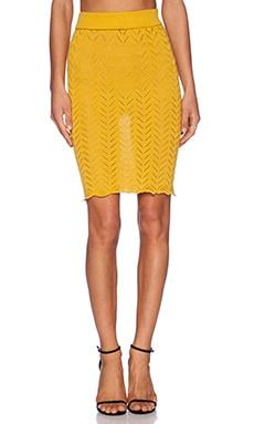 KNITZ by For Love & Lemons Lemon Drop Pencil Skirt in Lemon
