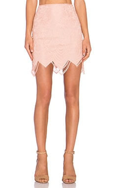 For Love & Lemons Luna Mini Skirt in Blush