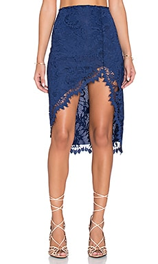 For Love & Lemons x REVOLVE Maui Waui Skirt in Deep Navy
