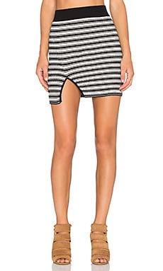 KNITZ by For Love & Lemons Ziggy Mini Skirt in Black & White