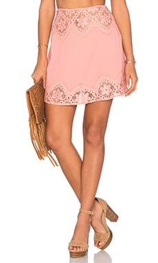 For Love & Lemons x REVOLVE Skirt in Pink