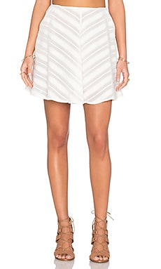 For Love & Lemons Alessandra Mini Skirt in White