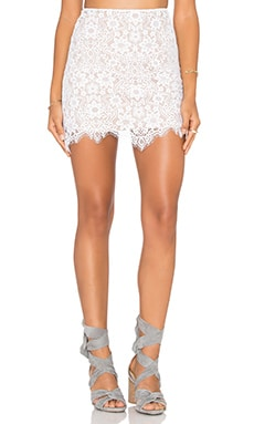 For Love & Lemons Rosemary Skirt in White