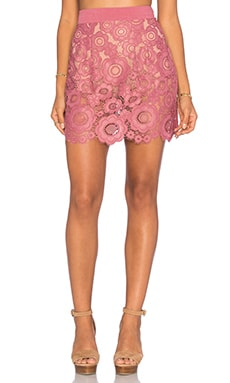 For Love & Lemons Sonya Mini Skirt in Mauve