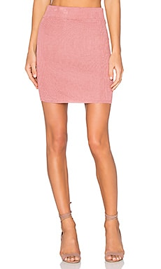 For Love & Lemons KNITZ Delancey Skirt in Vintage Rose