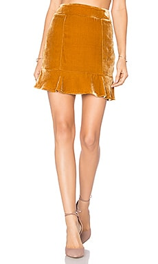Collette Mini Skirt in Copper